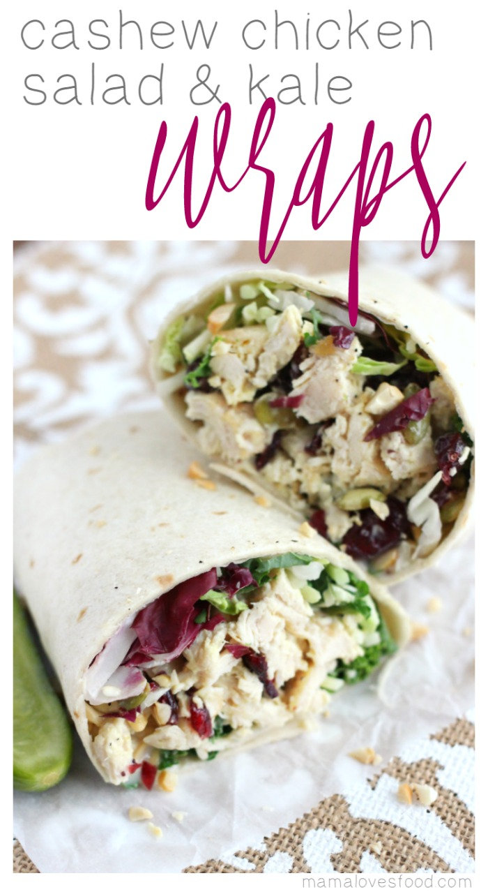 This Cashew Chicken Salad & Kale Wraps recipe was developed in ...