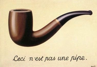 Rene Margitte Surrealist painting of a pipe that's not a pipe