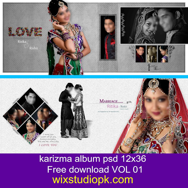 karizma album psd 12x36 free download VOL 01