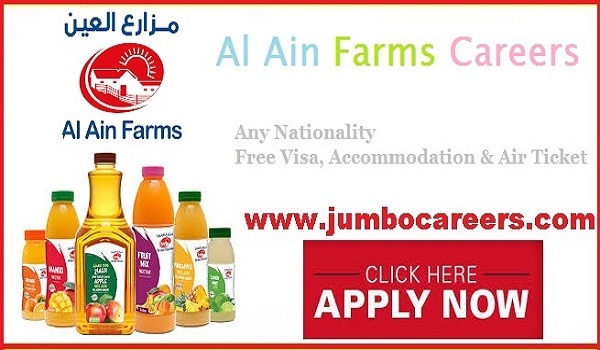 Al Ain Farms Careers 2020 Jobs in First Dairy Company in UAE