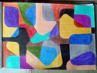 Abstract art drawing image