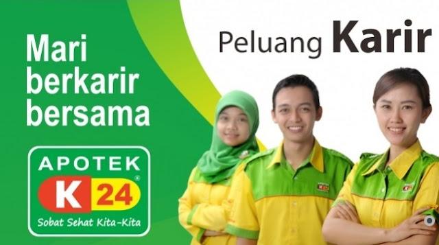 Lowongan Kerja SMK/SMA, D3, S1 PT K-24 Indonesia (Apotik K-24) Terbuka 12 Posisi Seluruh Indonesia | Posisi: Apoteker, Finance Staff, Admin Gudang, Etc.
