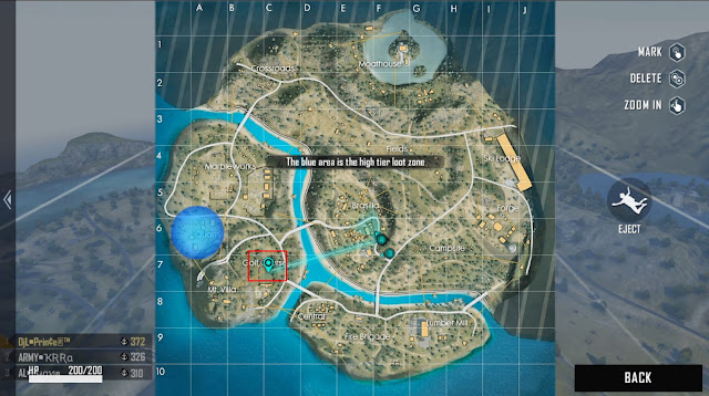 Lokasi Peta Harta Karun Haru ke 20 Map Purgatory
