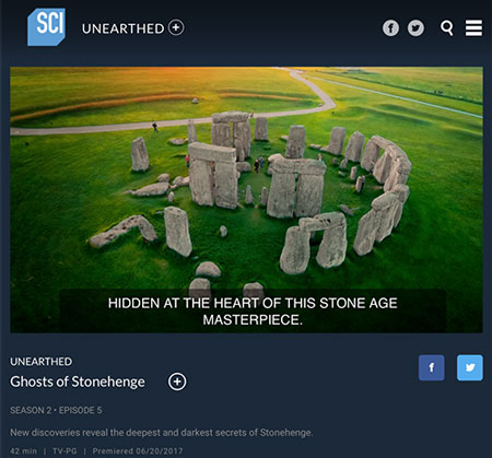 Great documentary on the latest Stonhenge archeological finds, including use of X-ray XRF (Source: Science Channel)