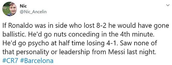 Messi thua đậm Cúp C1 chưa đủ, bị chê tài thủ lĩnh thua xa Ronaldo 4