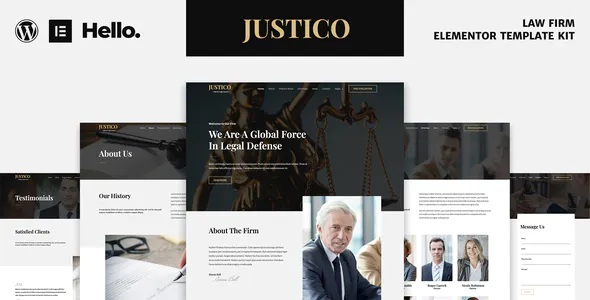 Best Law Firm Elementor Template Kit