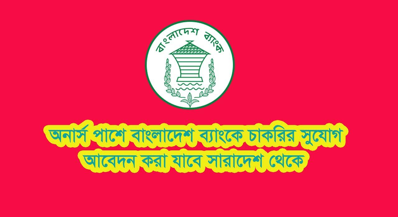 Bangladesh Bank New Job Circular 2019 In Hons Pass Qualifications