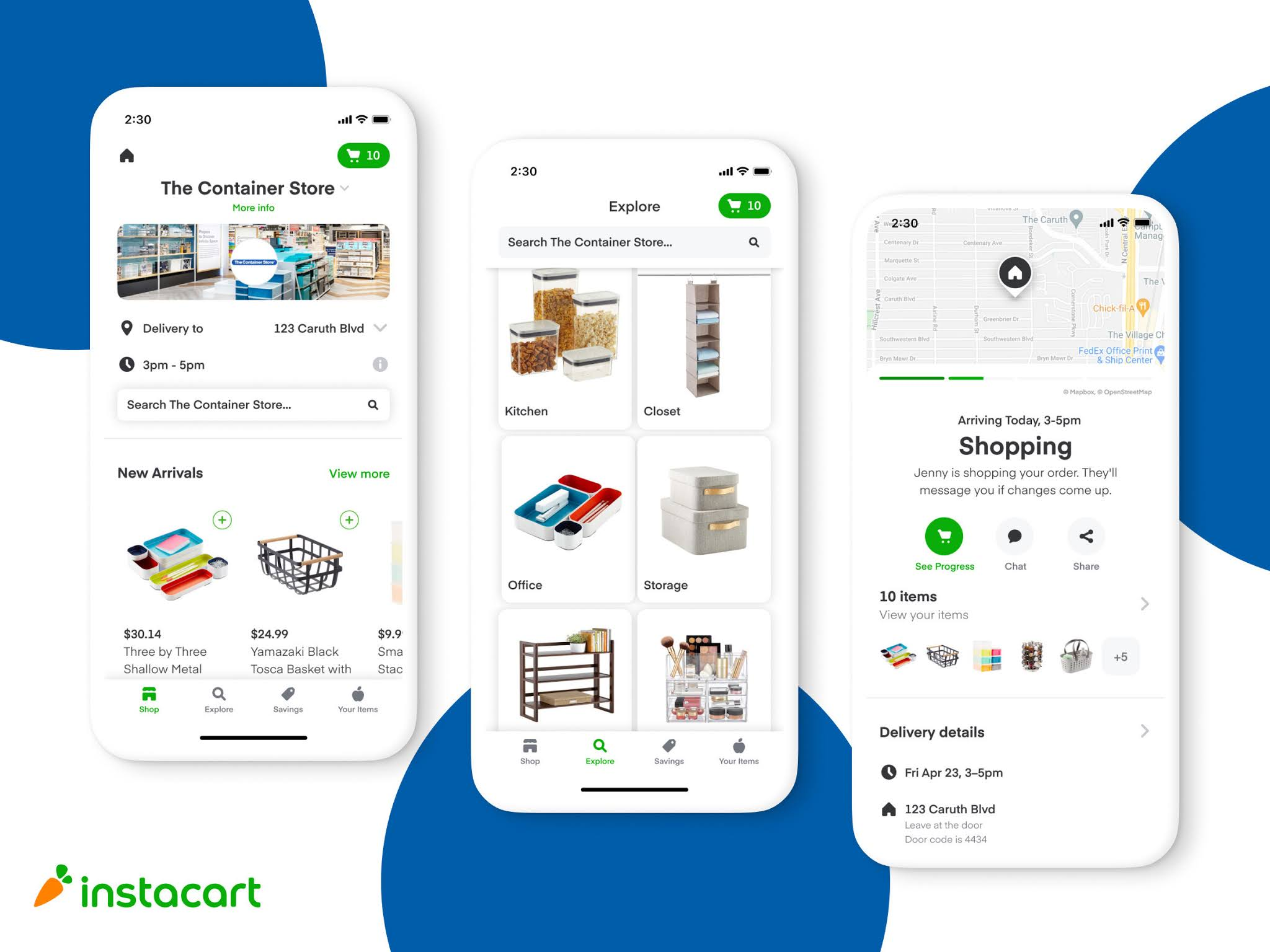Instacart and The Container Store Partner to Launch Same-day Delivery