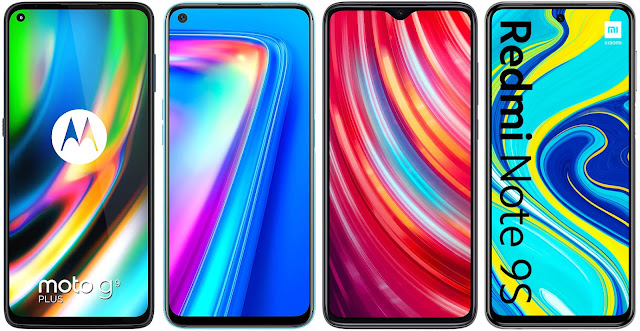 Motorola Moto G9 Plus vs Realme 7 vs Xiaomi Redmi Note 8 Pro vs Xiaomi Redmi Note 9S
