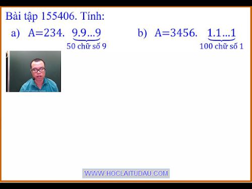 Bài tập 155406