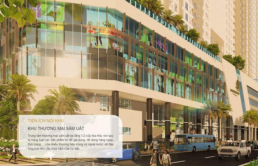 Tiện ích trung tâm thương mại sầm uất tại The Golden Palm