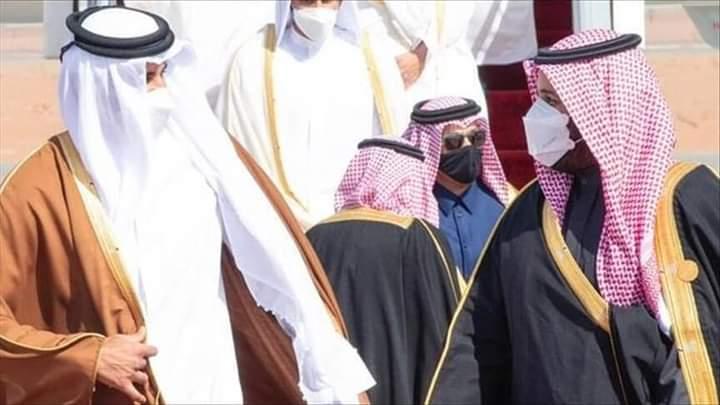 بن سلمان و أمير قطر يلتقيان و يتفقان على تعزيز العمل الخليجي