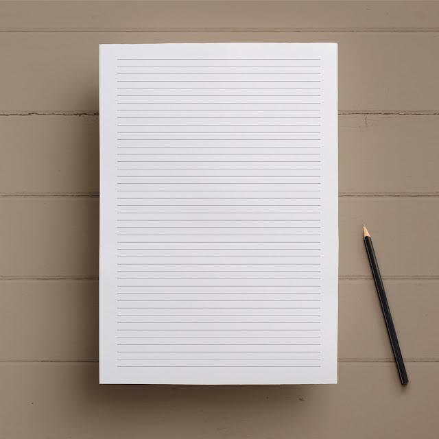 papier kancelaryjny w linie do druku