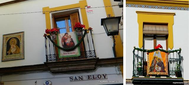 Fachadas decoradas para o Natal em Sevilha