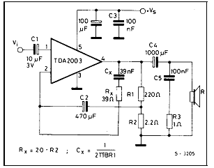 TDA2003 Car amplifier circuit