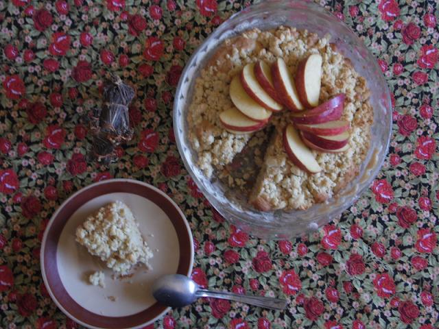 Pastel continental de manzana
