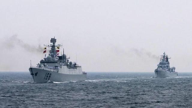 """Dos buques chinos salen a la caza de destructor """"invasor"""" de EEUU"""
