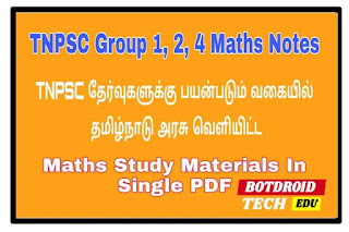 tnpsc maths study material 2020 in tamil pdf