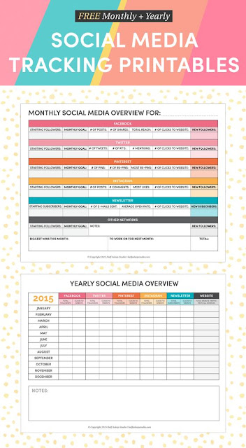 free printable social media tracking sheet