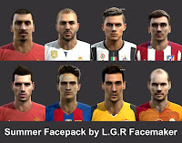 PES 2013 Summer Facepack By LGR Facemaker