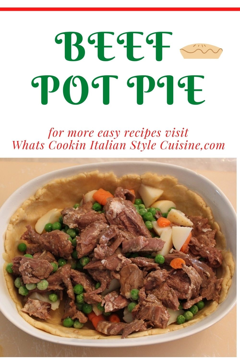 this is a pin for later on how to make beef pot pie