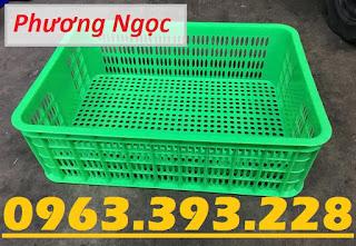 Sọt nhựa đựng nông sản, sóng nhựa rỗng HS009, sọt cao 19, sọt nhựa nguyên sinh 0860777777b58debd4a4