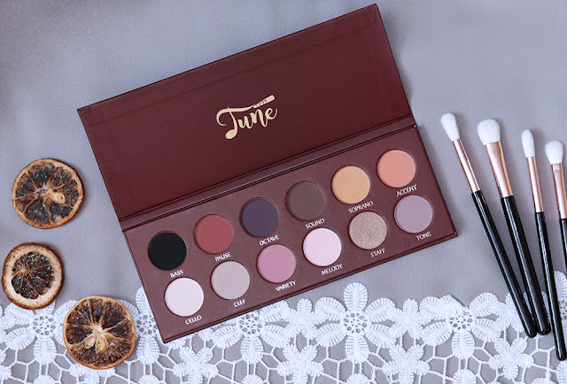 Tune Cosmetics The D dur Eyeshadows Palette opinia swatches wizaz