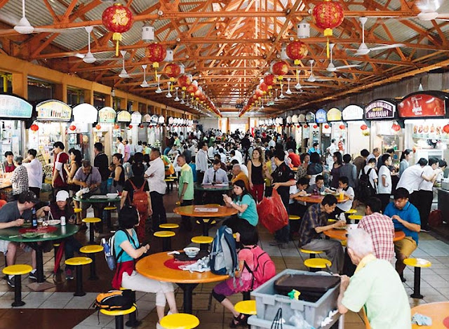 Try local food at the Hawker's Stalls