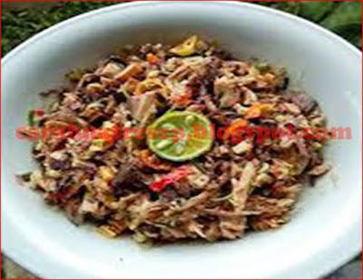 Foto Resep Tongkol Suwir Sambal Matah Pedas Sederhana Spesial Asli Enak