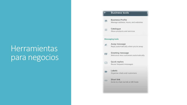 WhatsApp business herramientas de negocios