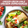 Cheesy Green Chile Chicken Chimichangas