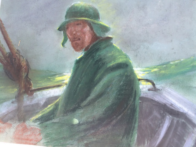 Quirk Art, Francis Quirk Fishermen, Quirk painting, fishermen Image Francis Quirk