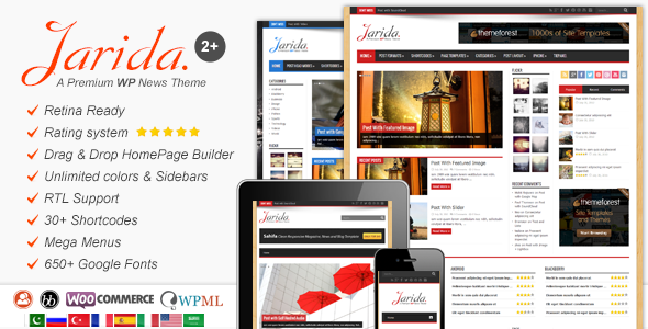 Jarida Wordpress Theme For News Magazine Blog