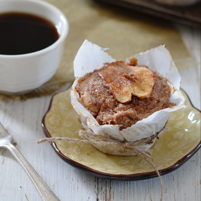 Muffin on small plate