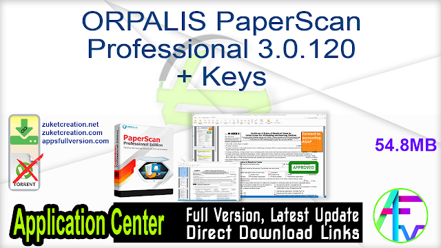ORPALIS PaperScan Professional 3.0.120 + Keys