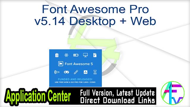 Font Awesome Pro v5.14 Desktop + Web