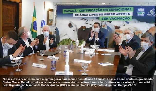 """""""É o maior anúncio para o agronegócio paranaense em 50 anos"""", afirma governador"""