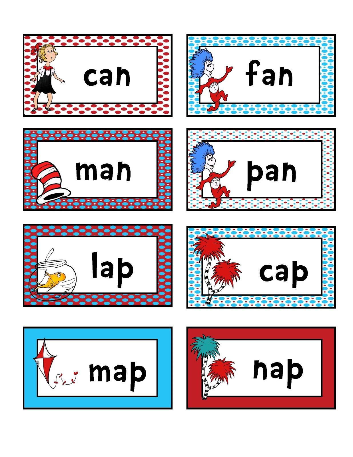 Dr Seuss Preschool Rhyming Worksheets