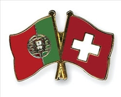 bandeira Portugal e Suíça