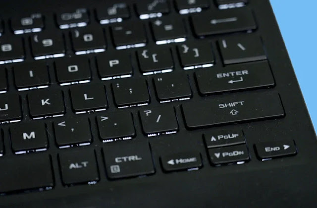 Test du Asus Rog Flow X13 clavier