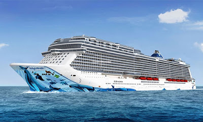 Artist Rendering of Norwegian Cruise Line's new 167,700 ton Norwegian Bliss