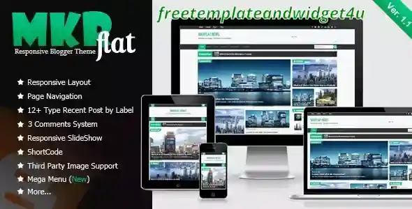 Download Free MKRflat - Responsive Magazine and News Blogger Theme