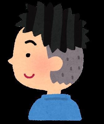 かりあげの男の子のイラスト