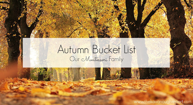 Montessori friendly bucket list for autumn