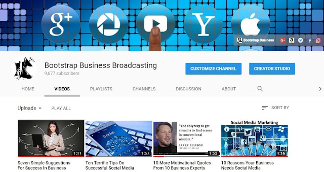 bootstrap business broadcasting tv show youtube channel