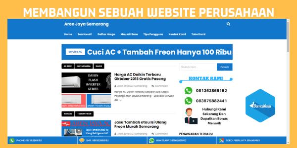 Membangun Sebuah Website Perusahaan