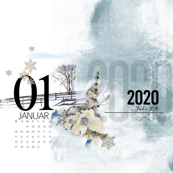 january © sylvia • sro 2019 • calendar 2020 by natali designs