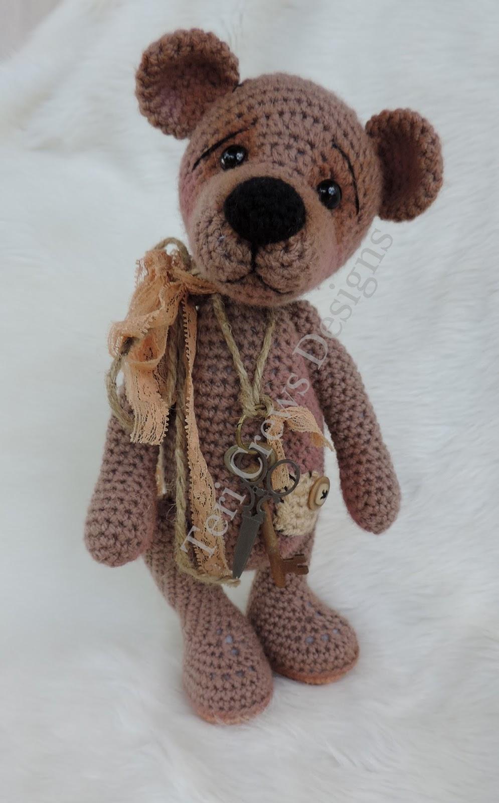 """10/"""" Tall Vintage Crochet Pattern To Make Cute Toy Koala Bears DK Yarn."""