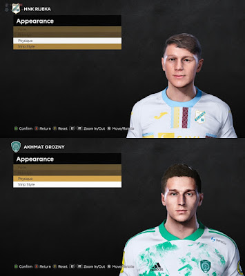 PES 2021 Faces Adrian Liber & Zoran Nižić by BrunoHR
