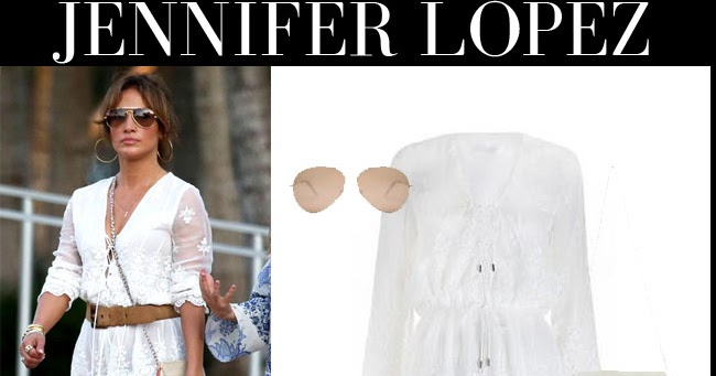Jennifer Lopez In White Lace Short Zimmermann Romper With